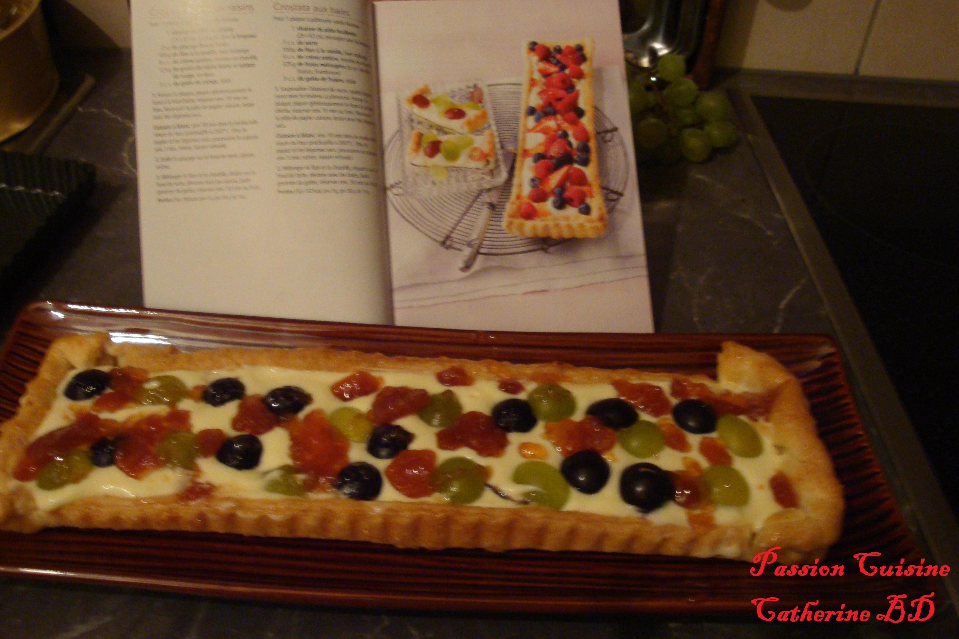 Crostata aux deux raisins passion cuisine for Passion cuisine