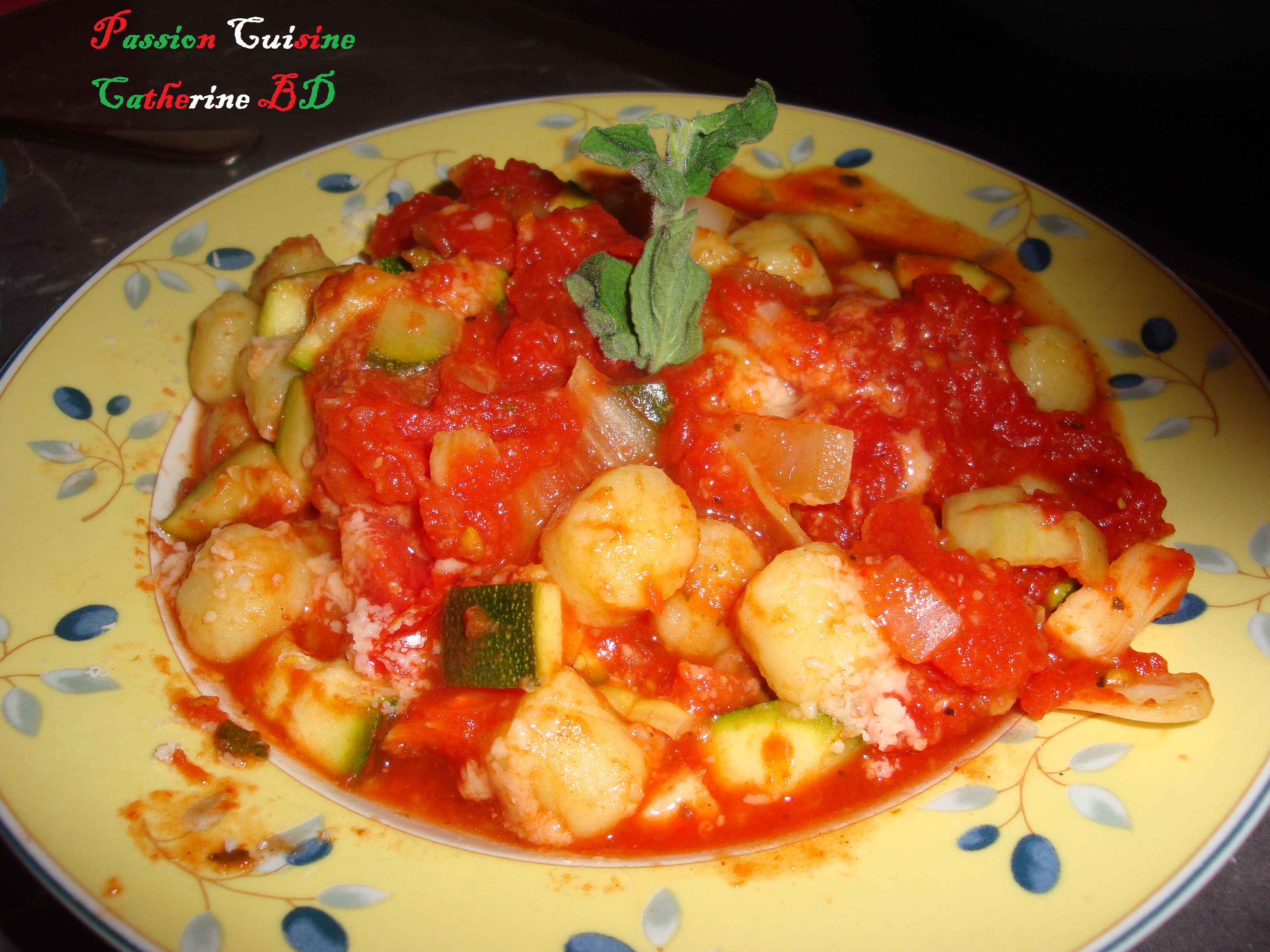 Gnocchi avec l gumes l italienne passion cuisine for Passion cuisine