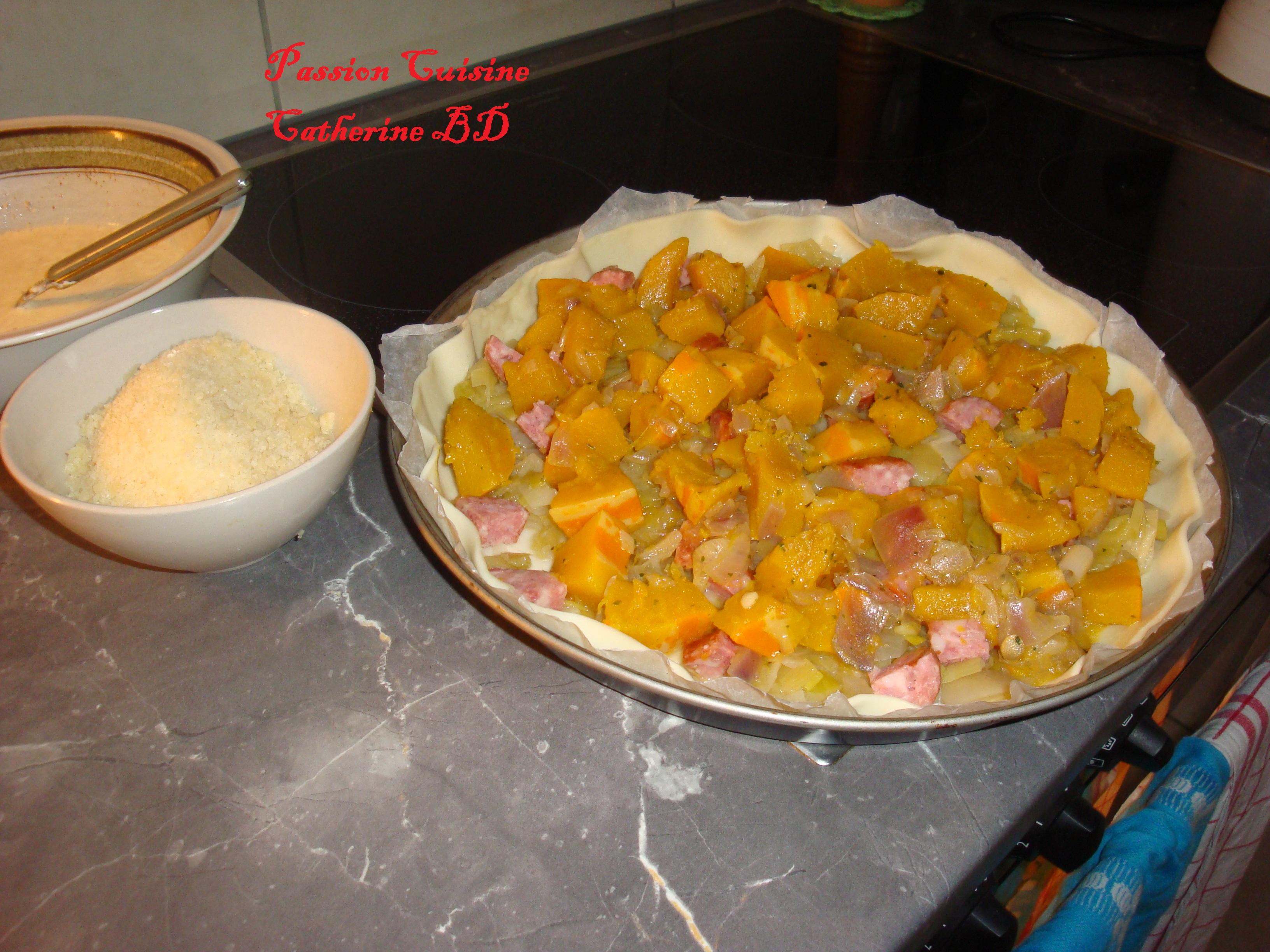 Tarte courge saucisse passion cuisine for Passion cuisine